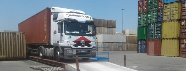 Dichiarazione certificata peso lordo container